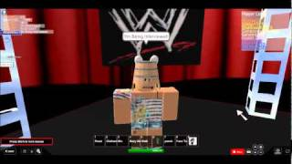 Look! I'm Being Interviewed At Backstage Of WWE! *ROBLOX*