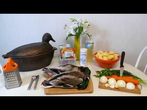 Как потушить дикую утку с картошкой