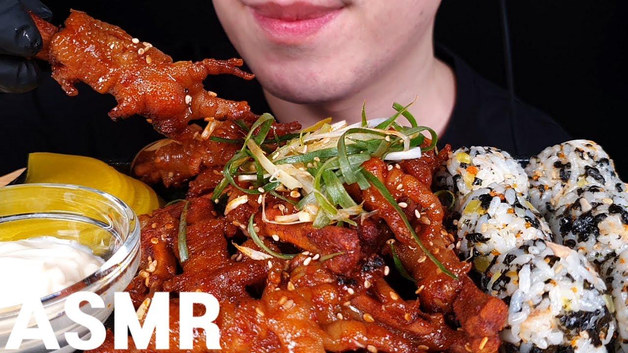 ASMR 튤립닭발 먹방 CHICKEN FEET MUKBANG EATING SOUNDS
