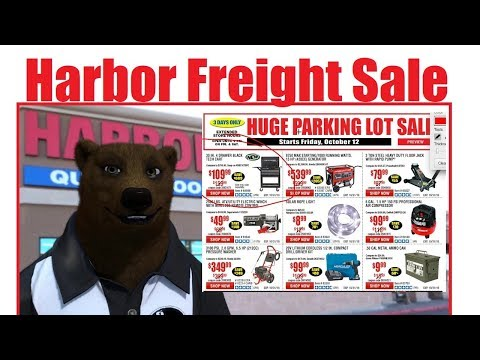Harbor Freight Parking Lot Sale (October '18)
