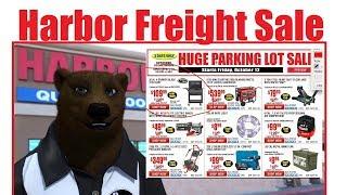 Harbor Freight Parking Lot Sale October 18