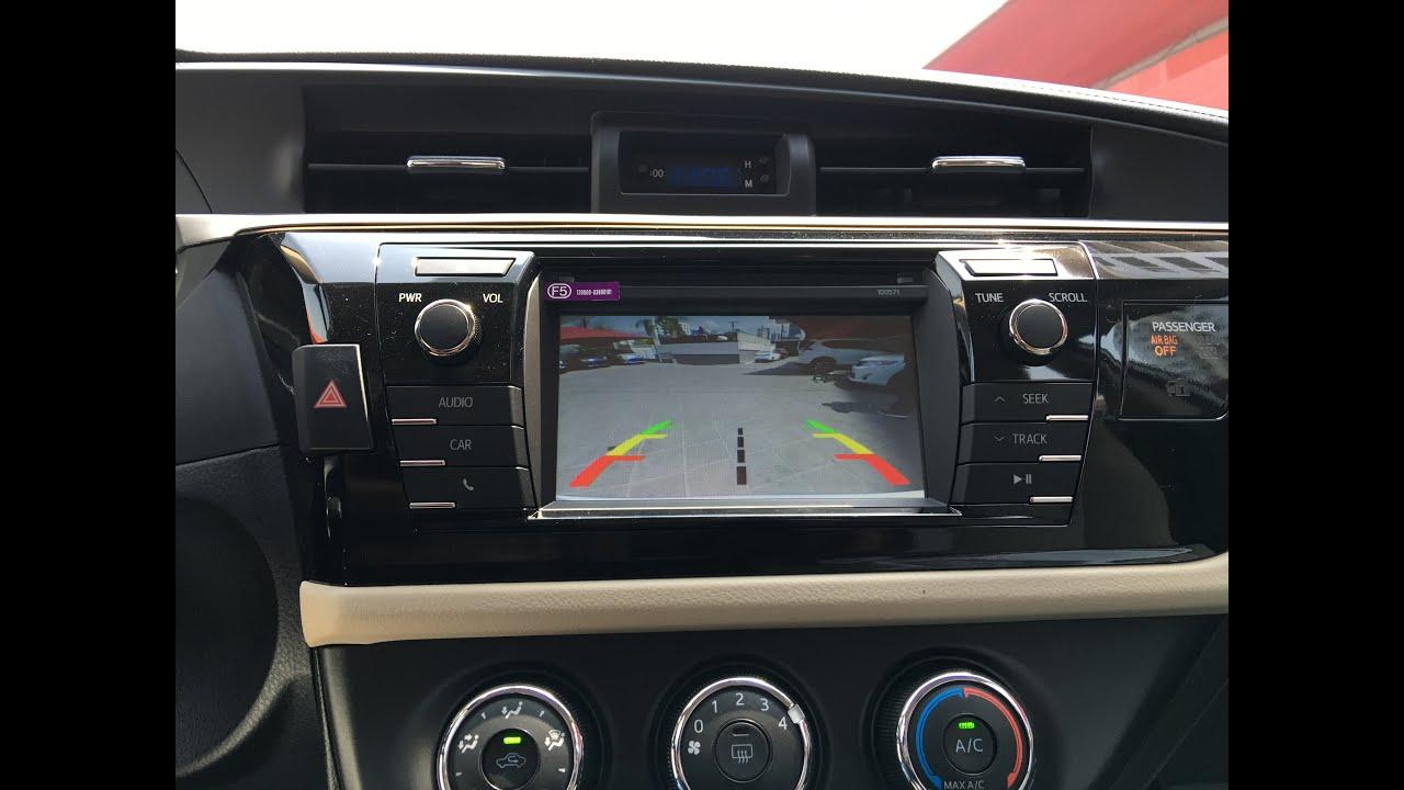 Instalacion De Camara De Reversa Para Toyota Corolla A 241 Os