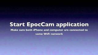 epocCam Setup Guide for iPhone