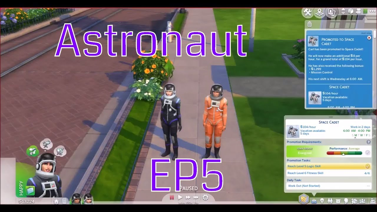 Sims 4 - Promotions to space cadet - Astronaut ep5