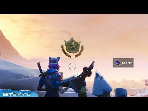 Secret Season 7 Week 1 Battlestar Location Guide (Snowfall Challenges) - Fortnite Battle Royale