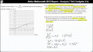 Abitur Mathematik 2012 Bayern - Analysis Aufgabengruppe I - Teil 2 Aufgabe 2 b)