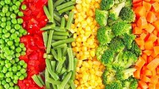 Как готовить замороженные овощи на сковороде быстро и просто