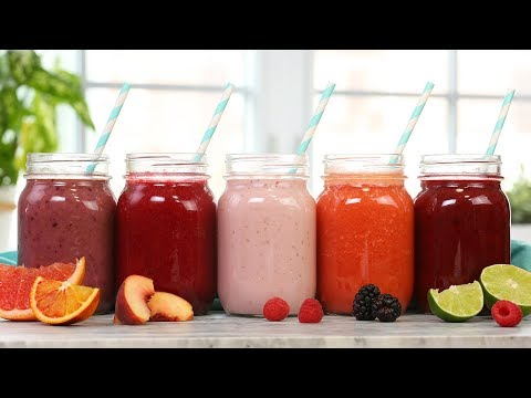 5 Healthy Smoothies   Taste The Rainbow Part 1