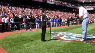 Davis Gestiehr sings Canadian & U.S. National Anthems at Orioles vs Blue Jays game 4.12.15