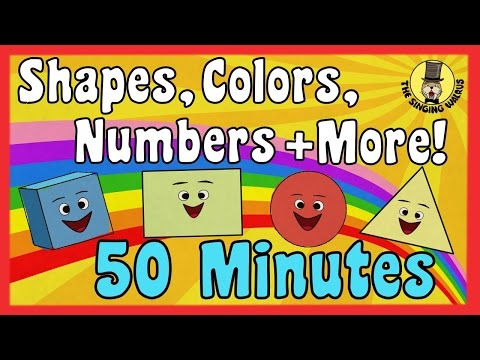 Shapes, Colors, Counting Songs and more!   Kids Song Compilation   The Singing Walrus
