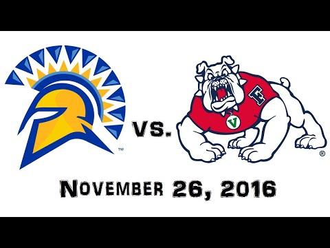 November 26, 2016 - San Jose State Spartans vs. Fresno State Bulldogs Full Football Game 60fps