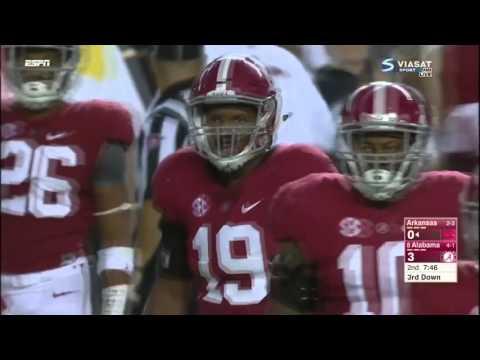 Reggie Ragland - Alabama vs Arkansas, 2015