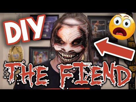 "How To Do WWE Bray Wyatt ""The Fiend"" Halloween Mask Makeup Face Paint!"