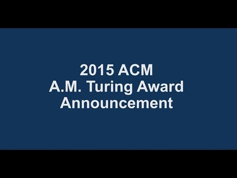 ACM President Alexander L. Wolf announces the recipients of the 2015 ACM A.M. Turing Award