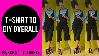 T SHIRT TO €6 DIY OVERALL CULOTTES IN 20MIN | T SHIRT TRANSFORMATION EP 11 | BACK TO SCHOOL / WORK
