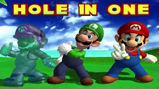 All Character Hole in One Animations in Mario Golf Toadstool Tour