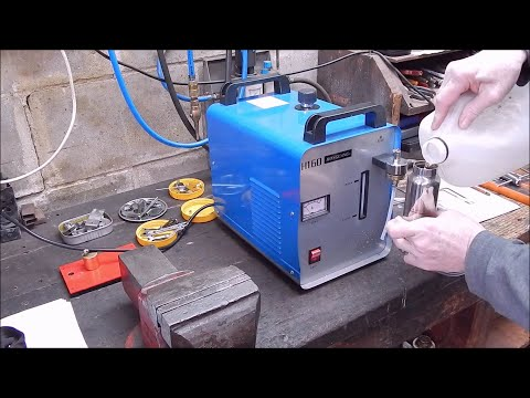 The H160 oxy hydrogen water torch fails miserably at light workshop use