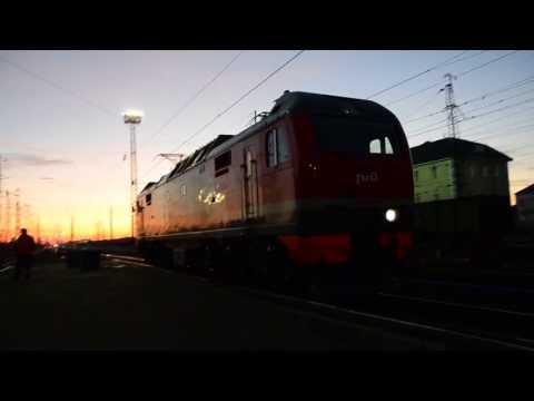 Станция Мариинск. Смена локомотива на рассвете