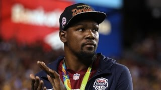 Kevin Durant Booed At Redskins Game, Gives Antonio Brown Dirty Look