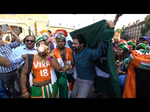 India-Pakistan fans mob the Oval for the Champions Trophy 2017 Final