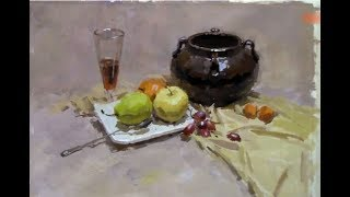 Still Life Painting in Gouache  Demonstration