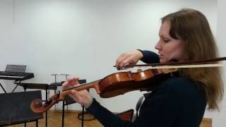 Урок скрипки 9. Гамма соль мажор, или скучнее некуда.