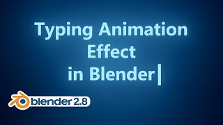 Blender Tutorial - Typing Effect with Animation Nodes