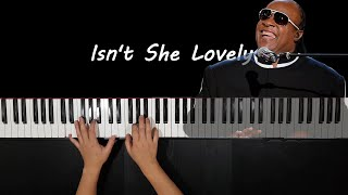 Stevie Wonder - Isn't She Lovely Jazz arrangement Piano cover by Mark Piano (Music Sheet)