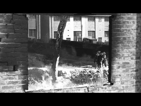WWII Falmouth fire at Swanvale, Falmouth