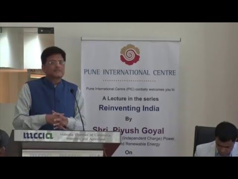 Pune International Centre: Lecture by Shri. Piyush Goyal