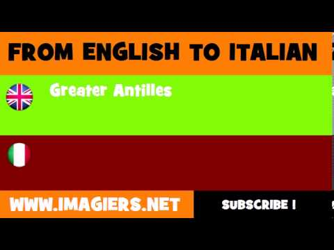 How to say Greater Antilles in Italian