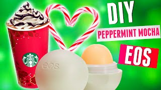 diy peppermint mocha eos lip balm starbucks inspired 2015
