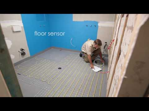 Comfort Heat Australia - How to install In-screed electric floor heating in a bathroom