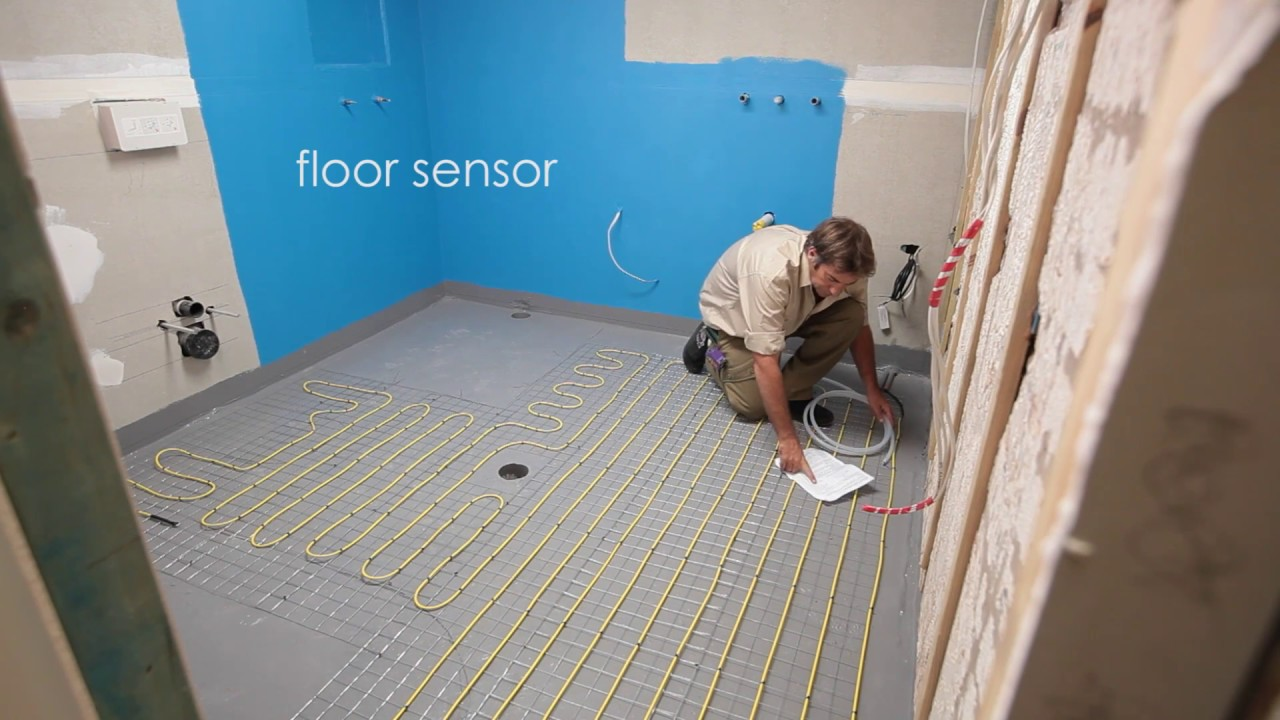 Comfort Heat Australia   How To Install In Screed Electric Floor Heating In  A Bathroom   YouTube
