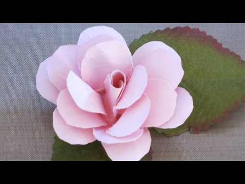 Papercraft EASY PAPER ROSE (Not Origami)