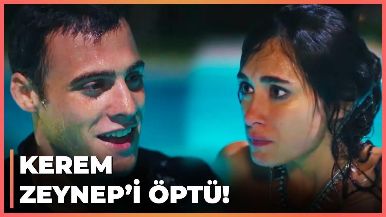 Kerem, Zeynep'i Havuzda Öptü! - Güneşi Beklerken 10. Bölüm
