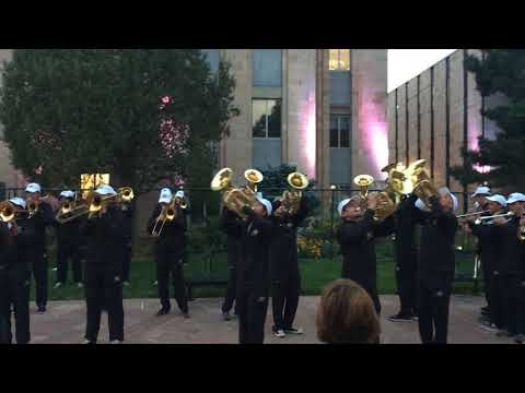 CU Marching Band - Tuba Cheer in front of courthouse (partial)