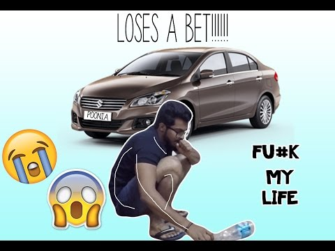 Never bet a car on ANYTHING!!!( bottle flip challenge)**GONE WRONG**