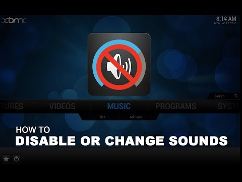 Disable Menu Sounds on XBMC KODI