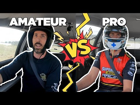 Who Is Faster?? Amateur Vs Pro // TRACK BATTLE