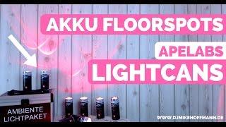 ApeLabs LightCans im Test mit Erfahrungswerten DJ Tipps | Akku Floorspots