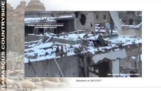 war damage assessment video:  Damascus countryside - Zabadani - December 2013