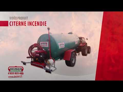 Citerne incendie 10000 litres sur roues