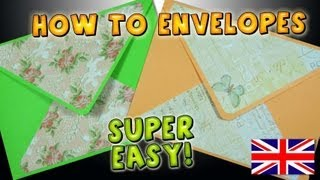 How to Make an Envelope Easy Papercraft DIY Crafts Ideas How to Make a Paper Envelope Kawaii Mathie
