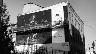 Painting our Kaia's Choice Billboard in Brooklyn