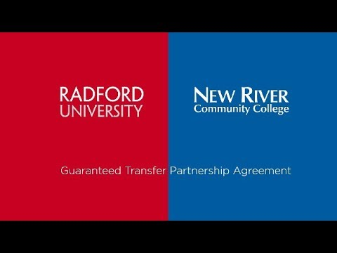 Radford University Guaranteed Transfer Partnership with New River Community College
