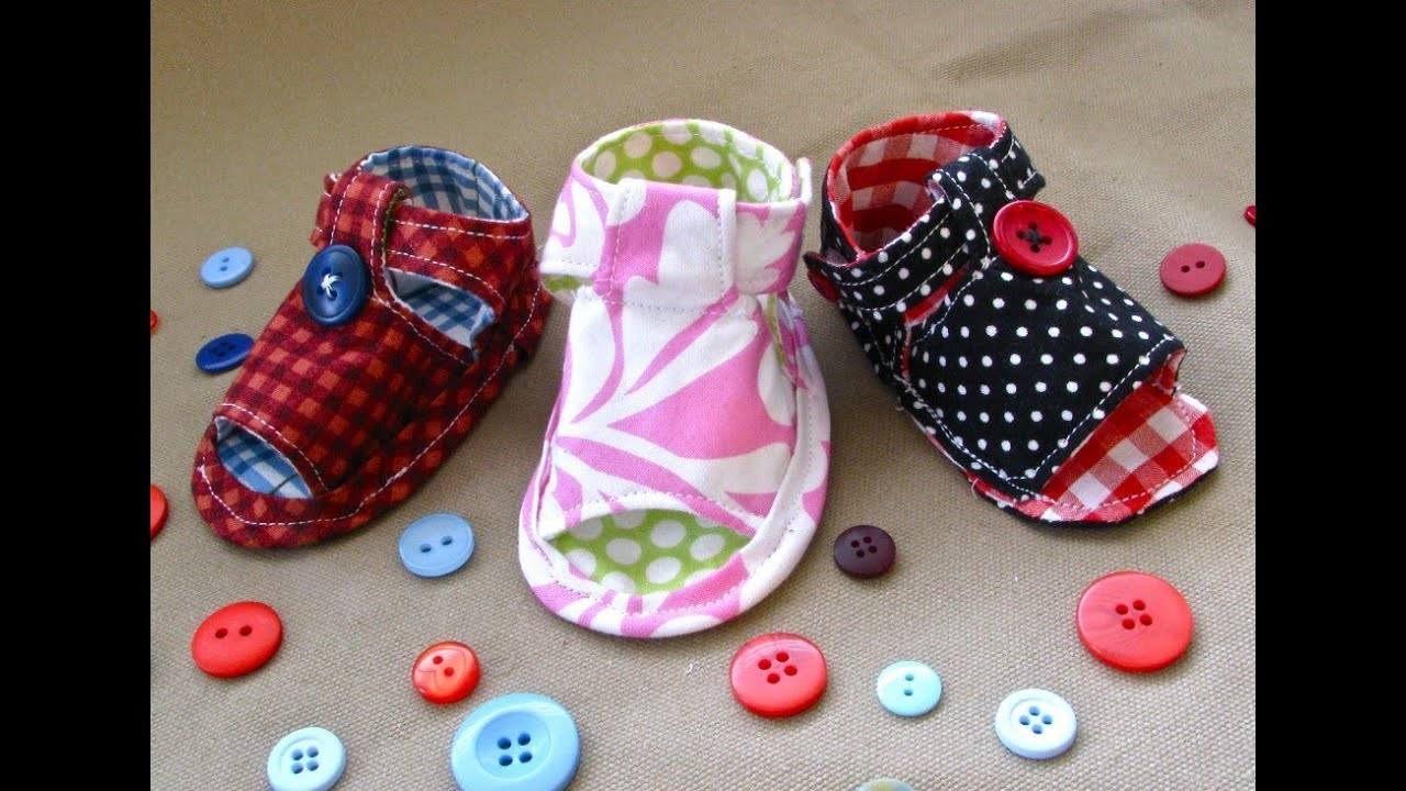 How to Sew Baby Tiptoe Sandals - YouTube