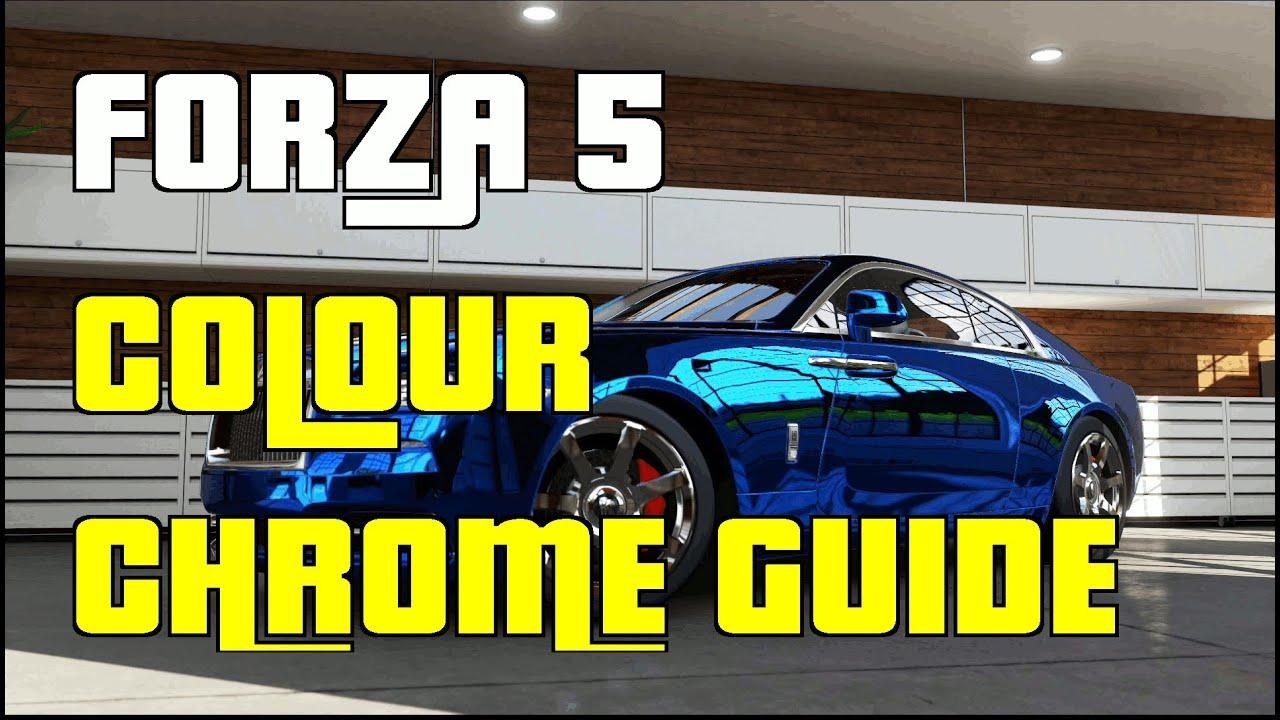 Car paint colour - Forza 5 How To Make Colour Chrome Cars Guide Forza 5 Custom Paint Jobs