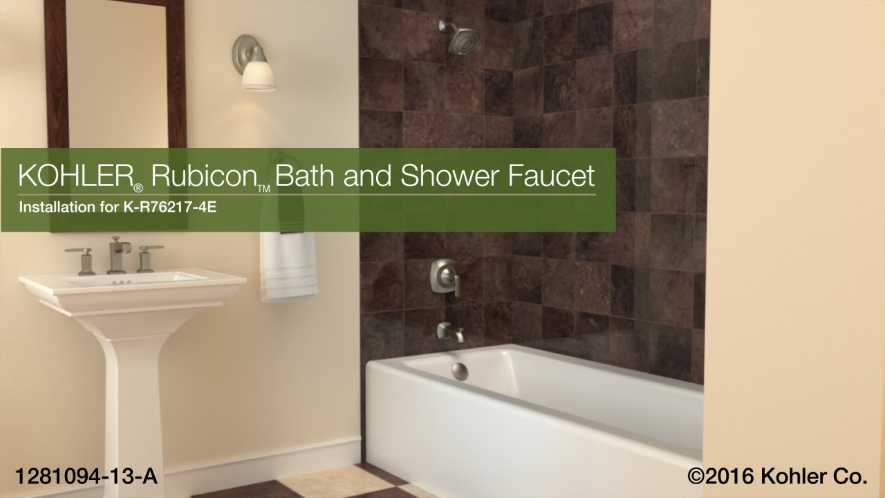 how to install kohler kitchen faucet installation rubicon bath and shower faucet 26889
