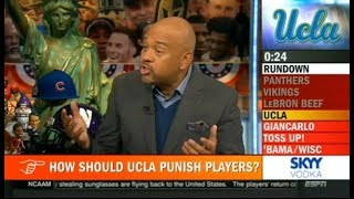 How Should UCLA Punish Players? Applause For Enes Kanter? - Pardon The Interruption 11/14/2017